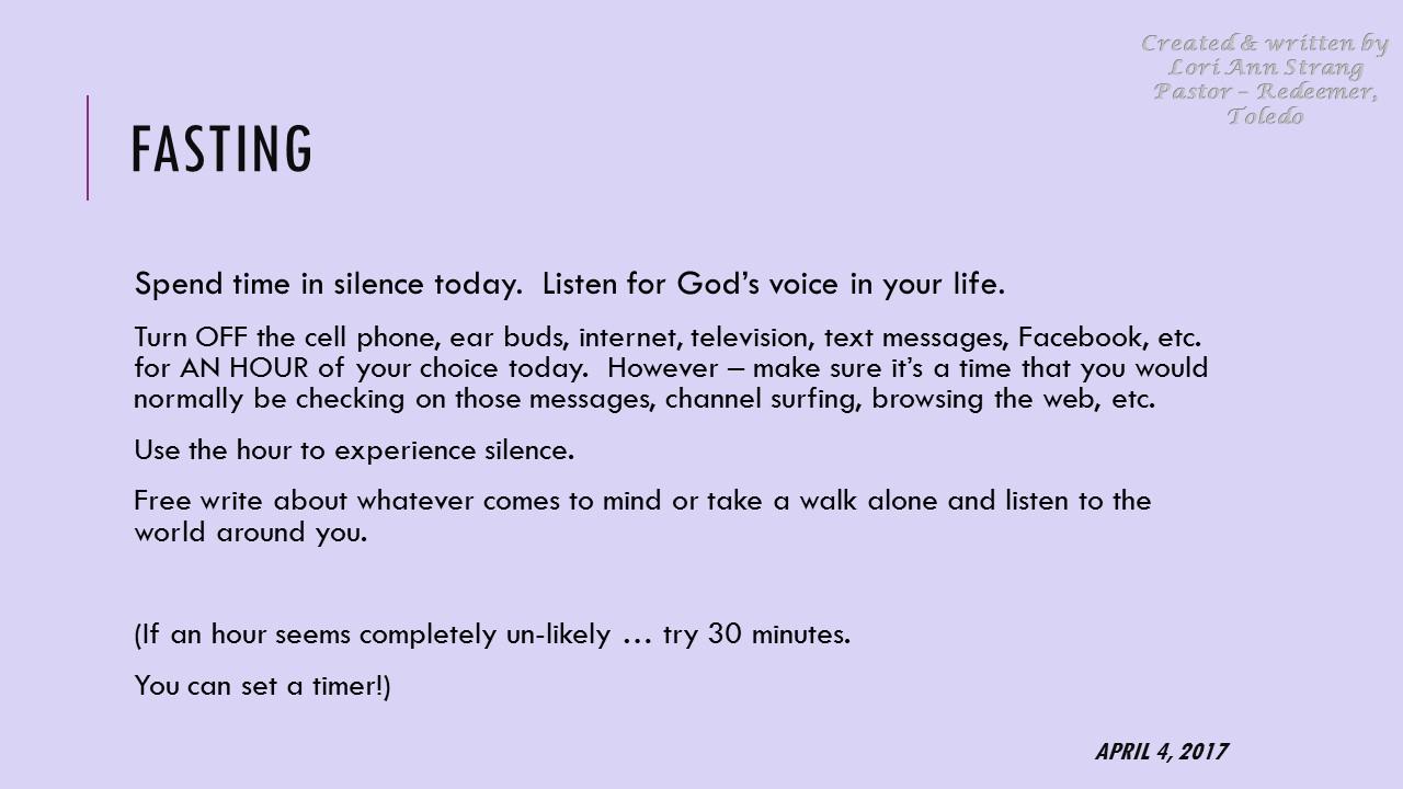Lenten 40 Practices | Redeemer Toledo